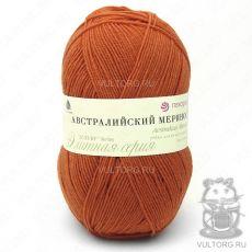 Пряжа Австралийский меринос Пехорка, цвет № 189 (Оранжевый)
