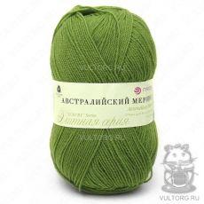 Пряжа Австралийский меринос Пехорка, цвет № 252 (Зелёный горошек)