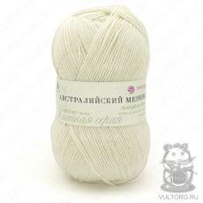 Пряжа Австралийский меринос Пехорка, цвет № 01 (Белый)
