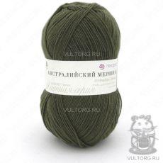 Пряжа Австралийский меринос Пехорка, цвет № 423 (Болотный)