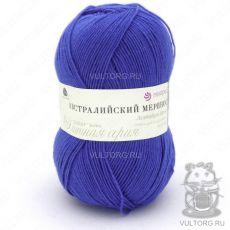 Пряжа Австралийский меринос Пехорка, цвет № 491 (Ультрамарин)