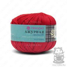 Пряжа Пехорка Ажурная, цвет № 88 (Красный мак)