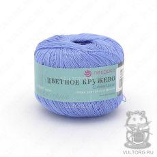 Пряжа Пехорка Цветное кружево, цвет № 15 (Темно-голубой)