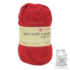 Пряжа Пехорка Детский хлопок, цвет № 06 (Красный)
