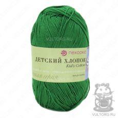 Пряжа Пехорка Детский хлопок, цвет № 480 (Яркая зелень)