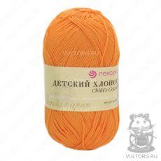 Пряжа Пехорка Детский хлопок, цвет № 485 (Желто-оранжевый)