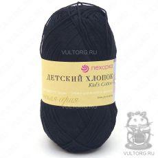 Пряжа Детский хлопок Пехорка, цвет № 02 (Чёрный)