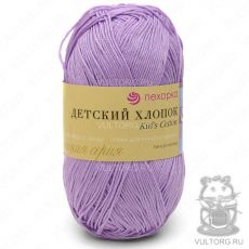 Пряжа Детский хлопок Пехорка, цвет № 178 (Светло-сиреневый)