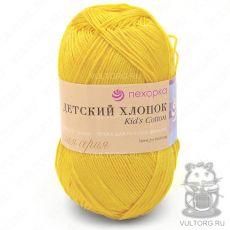 Пряжа Детский хлопок Пехорка, цвет № 12 (Желток)