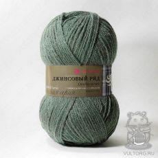 Пряжа Пехорка Джинсовый ряд, цвет № 1099 (Оливковый меланж)