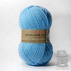 Пряжа Пехорка Джинсовый ряд, цвет № 1124 (Голубой меланж)