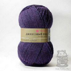 Пряжа Пехорка Джинсовый ряд, цвет № 1162 (Темно-фиолетовый меланж)