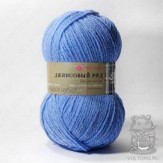 Пряжа Пехорка Джинсовый ряд, цвет № 777 (Темно-голубой меланж)