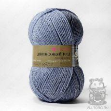 Пряжа Пехорка Джинсовый ряд, цвет № 817М (Серый меланж)