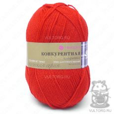 Пряжа Конкурентная, Пехорка, цвет № 88 (Красный мак)