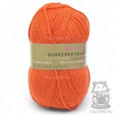 Пряжа Конкурентная, Пехорка, цвет № 189 (Ярко-оранжевый)