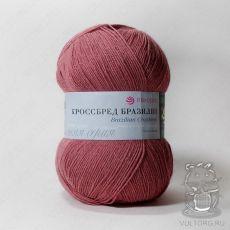Пряжа Пехорка Кроссбред Бразилии, цвет № 1168 (Темный амарант)