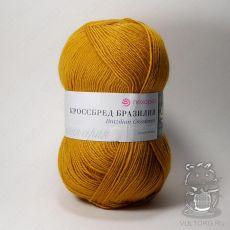 Пряжа Пехорка Кроссбред Бразилии, цвет № 447 (Горчица)