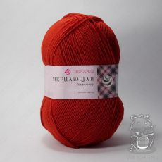 Пряжа Пехорка Мерцающая, цвет № 06 (Красный)