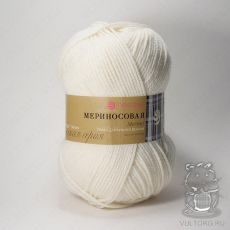 Пряжа Пехорка Мериносовая, цвет № 01 (Белый)