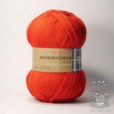 Пряжа Пехорка Мериносовая, цвет № 06 (Красный)