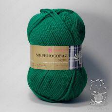Пряжа Пехорка Мериносовая, цвет № 511 (Зеленка)