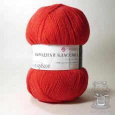 Пряжа Пехорка Народная Классика, цвет № 06 (Красный)