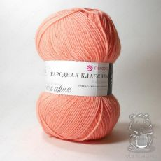 Пряжа Пехорка Народная Классика, цвет № 123 (Фламинго)