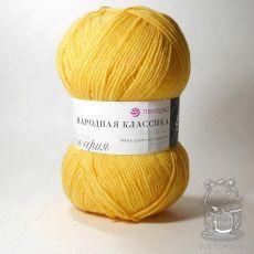 Пряжа Пехорка Народная Классика, цвет № 27 (Лимон)