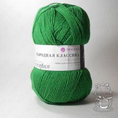 Пряжа Пехорка Народная Классика, цвет № 480 (Ярко-зеленый)