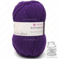 Пряжа Пехорка Народная, цвет № 78 (Фиолетовый)