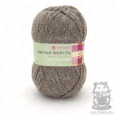 Пряжа Овечья шерсть Пехорка, цвет № 371 (Натуральный серый)