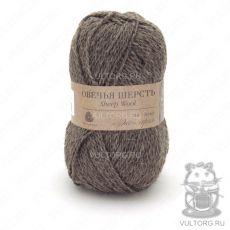 Пряжа Овечья шерсть Пехорка, цвет № 372 (Натуральный темно-серый)