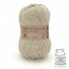 Пряжа Овечья шерсть Пехорка, цвет № 530 (Светлый натуральный)