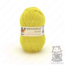 Пряжа Пехорка Школьная, цвет № 27 (Лимон)
