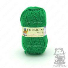 Пряжа Пехорка Школьная, цвет № 480 (Яркая зелень)