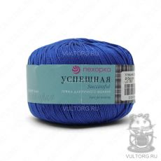 Пряжа Успешная Пехорка, цвет № 26 (Василёк)
