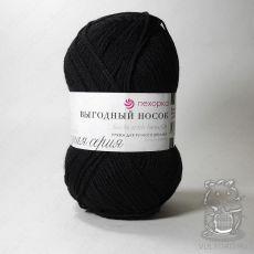 Пряжа Пехорка Выгодный носок, цвет № 02 (Черный)