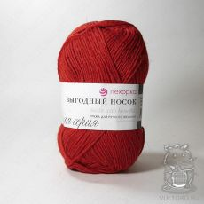 Пряжа Пехорка Выгодный носок, цвет № 06 (Красный)