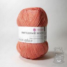 Пряжа Пехорка Выгодный носок, цвет № 351 (Светлый коралл)