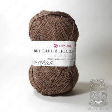 Пряжа Пехорка Выгодный носок, цвет № 416 (Светло-коричневый)