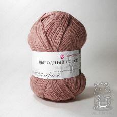 Пряжа Пехорка Выгодный носок, цвет № 599 (Увядшая роза)