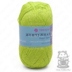 Пряжа Пехорка Жемчужная, цвет № 483 (Незрелый лимон)