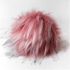Помпон Наследие, 14 см № 21 (Розовый, черный, белый)