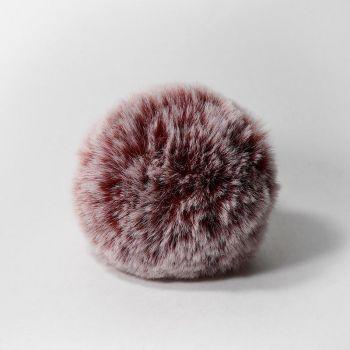 Помпон (Наследие) Шиншилла бордовый 8 см