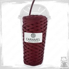 Шнур полиэфирный Caramel 5 мм, цвет Вино