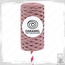 Шнур полиэфирный Caramel 5 мм, цвет Пыльная роза