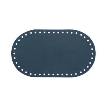 Дно для сумки 12 х 21 см. Navy blue (Кожанная)