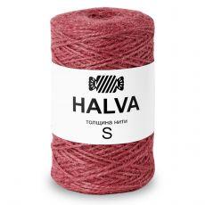 Джутовая пряжа Halva S, цвет Брусника