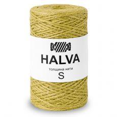 Джутовая пряжа Halva S, цвет Горчица